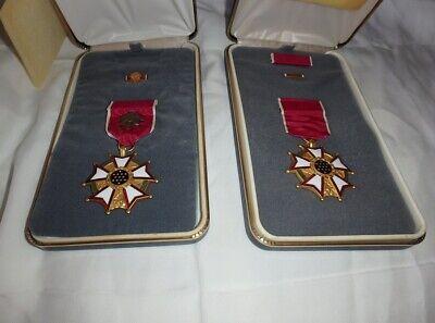 2x Original US Legionnaire Class Legion Of Merit Medal