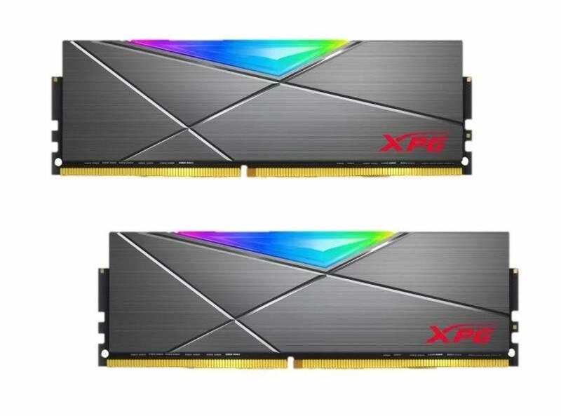 XPG SPECTRIX DT50 RGB Gaming Memory: 16GB (2x8GB) DDR4 4133MHz CL19 GREY