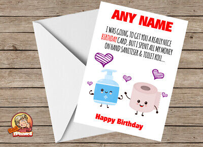 Personalised Humorous Funny Isolation Birthday Card For Wife Husband Partner