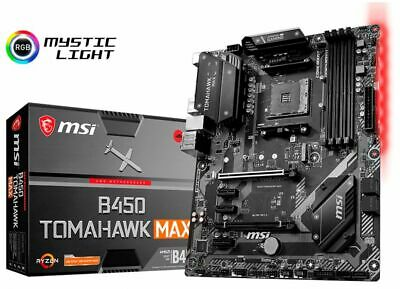 MSI - B450 TOMAHAWK MAX (Socket AM4) USB-C Gen2 AMD Motherboard