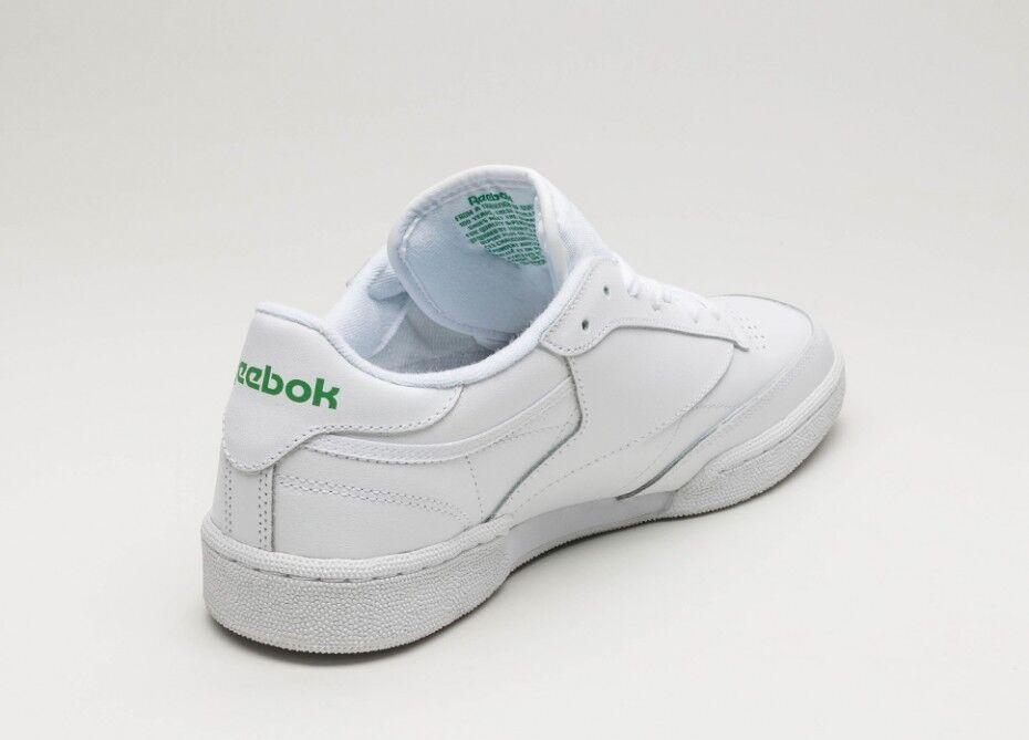 b645dc17710 Reebok Classic Club C85 White Glen Green AR0456 Mens Casual Shoes Sneaker  Sizes