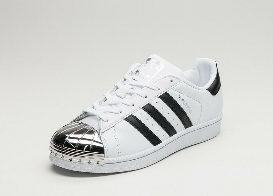 Silver 3 Superstar Black White Adidas Metal Toe trdsCQh