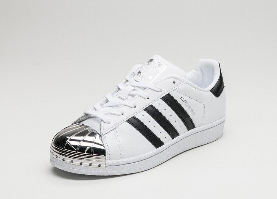 Adidas Black Toe 3 Superstar Metal White Silver ARL34j5