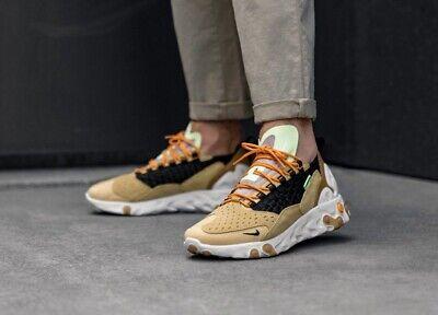 Nike React Sertu Shoes CLUB GOLD/BLACK-WHEAT-BRIGHT C Size Uk 9 Eur 44