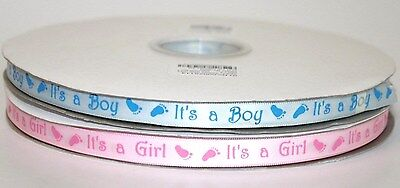 its a boy and its a girl 10mm satin ribbon, baby shower, hamper, christening A Baby Hamper