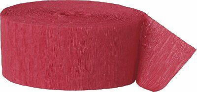 Crepe Paper Red Party Streamers - Red Streamers