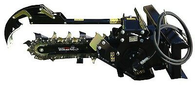 Trencher 48 Boom W8 Combo Chain Skid Steer Loader Attachment Bobcatjdgehl