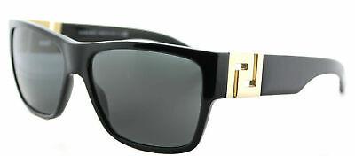New Authentic Versace VE 4296 GB1/87 Black Plastic Square Sunglasses Grey (Versace Sunglasses 4296)