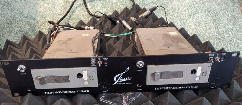 Telefunken V78 Stereo Pair + Classic Rack  Siemens Vintage Rare Mic Pre Preamp