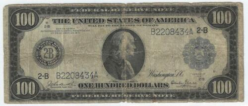1914 $100 Federal Reserve Note ..... New York