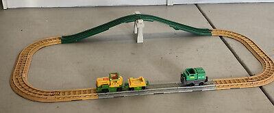 Geo Trax Bridge And Tracks With Two Push Trains