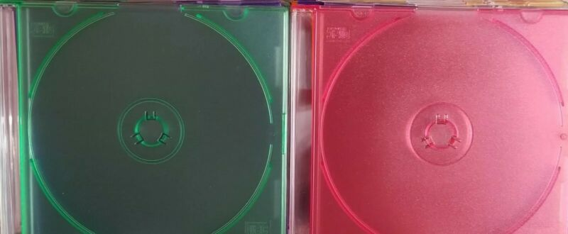 50 Pack Colored Slim Jewel Disc Case