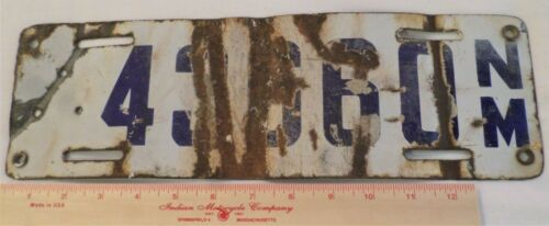 1923 porcelain New Mexico license plate collectible old NM tag vintage garage