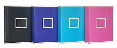 Extra Large Black Two Tone Slip In Photo Album Holds 600 6 x 4 Photos