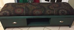 OOAK Restyled Upholstered Bench