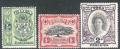 Tonga 1942 part set very fine mint SG74/75/76 (3)