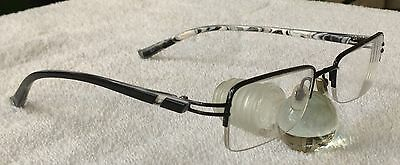 """zip+homme, Z-0248 TITANIUM, 09-BLK, 49-18-133"", semi-rimless glasses-frame only"