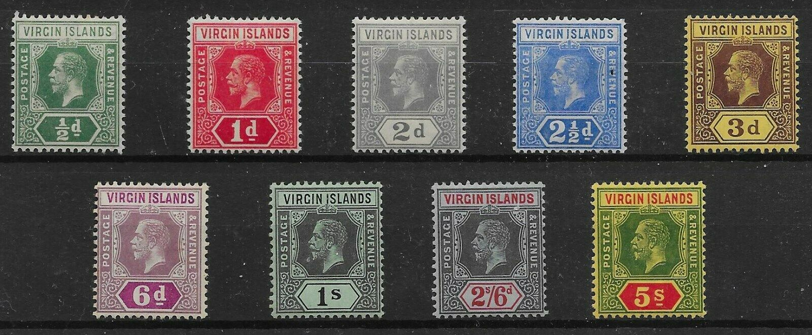 VIRGIN ISLANDS SG69/77 1913-9 DIE I SET MTD MINT