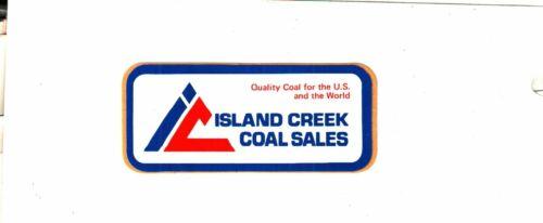 NICE OLD  ISLAND CREEK COAL CO. COAL MINING STICKERS # 890