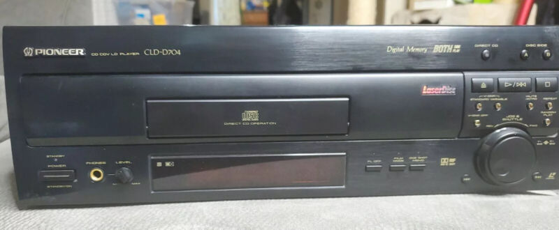 Pioneer CLD-D704 2-Side LaserDisc LD Player / CD Player, No Remote - Tested!