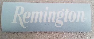 """Remington  Logo High Gloss White Vinyl Die Cut Gun 5"""" Sticker"""