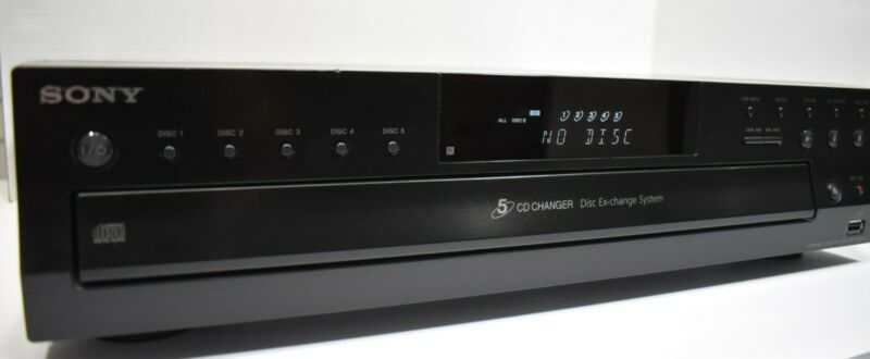 Sony CDP-CE500 5 Disc CD Carousel Changer USB Recorder TESTED - FREE Shipping!