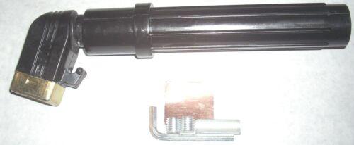 "Short Stub Welding Electrode Holder 600 Amp Screw Type Holds Up to 3/16"" Rod"