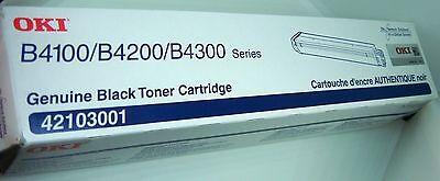 GENUINE OKIDATA 42103001 B4100, B4200, B4300, BLACK TONER CARTRIDGE NIB