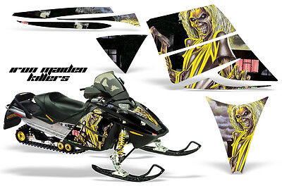 Amr Ski-doo Rev Snowmobile Sled Wrap Graphics Decal Kit 03-09 Maiden Killers