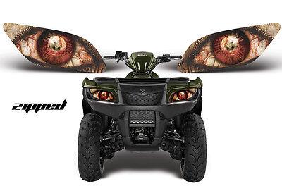 AMR RACING HEAD LIGHT EYES GRAPHIC DECAL SUZUKI KING QUAD ATV PARTS - ZIPPED