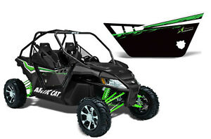 AMR RACING GRAPHIC DECAL KIT PRO ARMOR DOORS ARCTIC CAT WILDCAT UTV 1000 PART BK