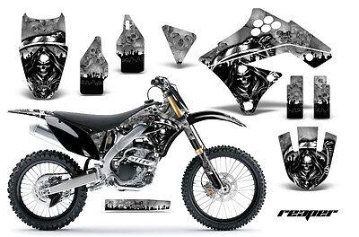 Dirt Bike Graphics Kit Decal Sticker Wrap For Kawasaki KX250F 09-12 REAPER SLVR