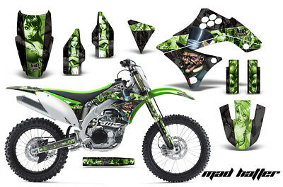 Dirt Bike Decal Graphics Kit Sticker Wrap For Kawasaki KXF450 2009-2011 MAD G K