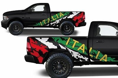Vinyl Decal Italia Wrap Kit for Dodge Ram Truck 2009-2018 1500/2500/3500 6.5 BED