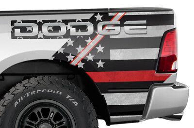 Dodge Ram 1500 Rear Quarter Panel Graphic Kit Truck Bed Decal Set 09-14 RED LINE