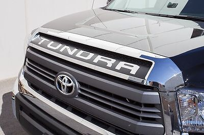Custom Vinyl Decal Graphics TUNDRA Grille Wrap Kit for 14-17 Toyota Tundra Black