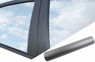 6x PREMIUM A B C Säule Tür Leisten Auto Folie Carbon Grau für viele Fahrzeuge