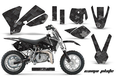 Dirt Bike Decal Graphics Kit Sticker Wrap For KTM SX50 SX 50 2002-2008 CAMO BLK