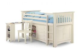Child's sleep station single bunk beds x2