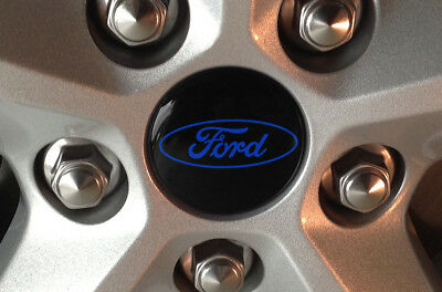 4 Custom Center Cap Decals Wheel Stickers Emblem Overlays For All Ford (Emblem Wheel)
