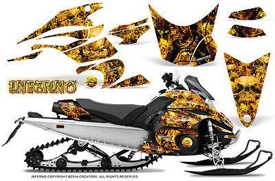 Yamaha FX Nytro 08-14 Graphics Kit CreatorX Snowmobile Sled Decals INFERNO Y