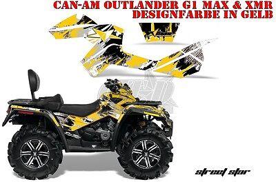 AMR RACING DEKOR GRAPHIC KIT ATV CAN-AM OUTLANDER XMR/MAX STREET STAR LAGERWARE
