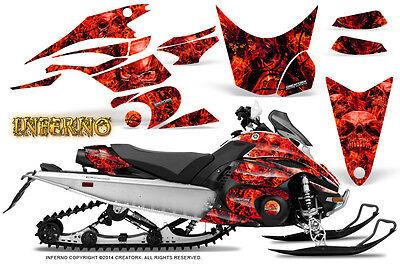 Yamaha FX Nytro 08-14 Graphics Kit CreatorX Snowmobile Sled Decals INFERNO R