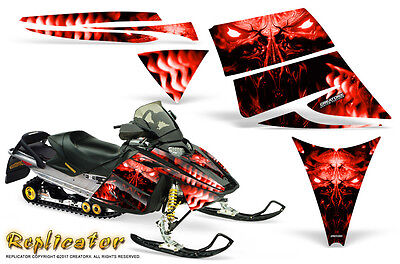 SKI-DOO REV XM SUMMIT SNOWMOBILE SLED SIDE PANEL GRAPHICS WRAP OUTLAW RED