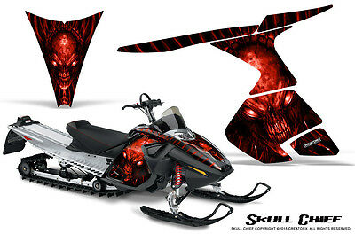 SKI-DOO RT MACH Z MX Z 05-09 SNOWMOBILE CREATORX GRAPHICS KIT SKULL CHIEF R