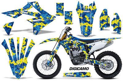 Dirt Bike Graphics Kit Decal Sticker Wrap For Suzuki RMZ450 2018+ DIGICAMO U Y