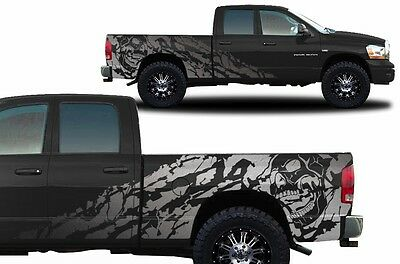 Custom Vinyl Decal NIGHTMARE Wrap Kit for Dodge Ram 1500/2500 2002-2008 Silver