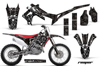 Dirt Bike Graphics Kit Decal Sticker Wrap For Honda CRF450R 2013-2016 REAPER BLK