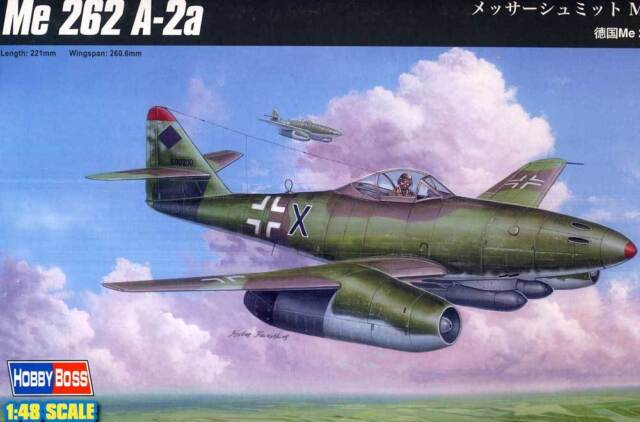 HobbyBoss Messerschmitt Me-262A-2a Jumo 004B MK108 R4M 1:48 model kit