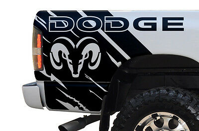 Vinyl Graphics Decal Wrap Kit for Dodge Ram 2002-2008 DODGE Quarter Matte Black